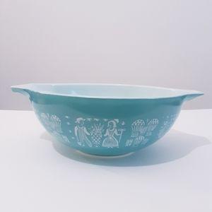 Vintage Pyrex Amish butterprint blue glass bowl